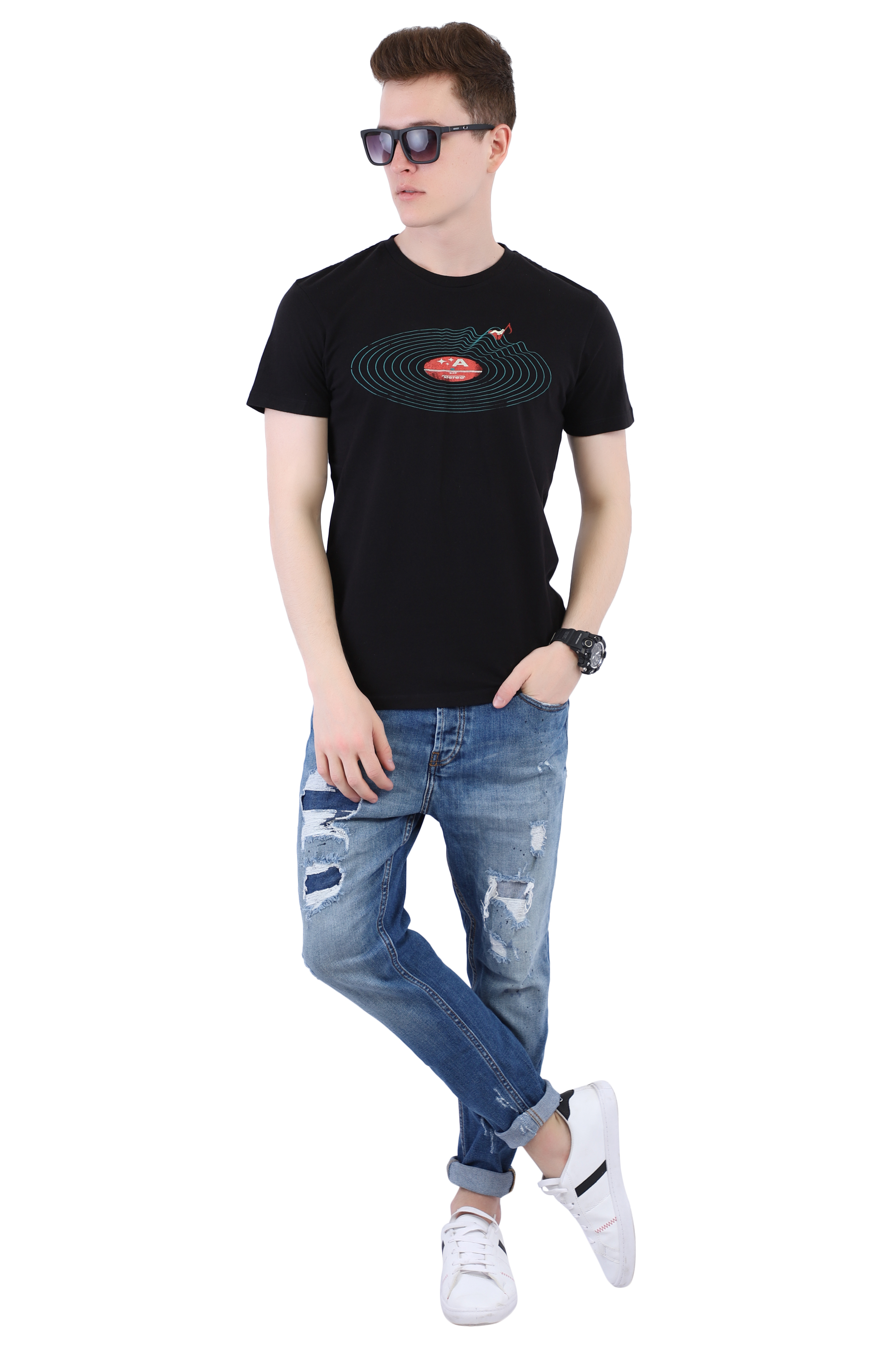 Black T-shirt (Space) Image