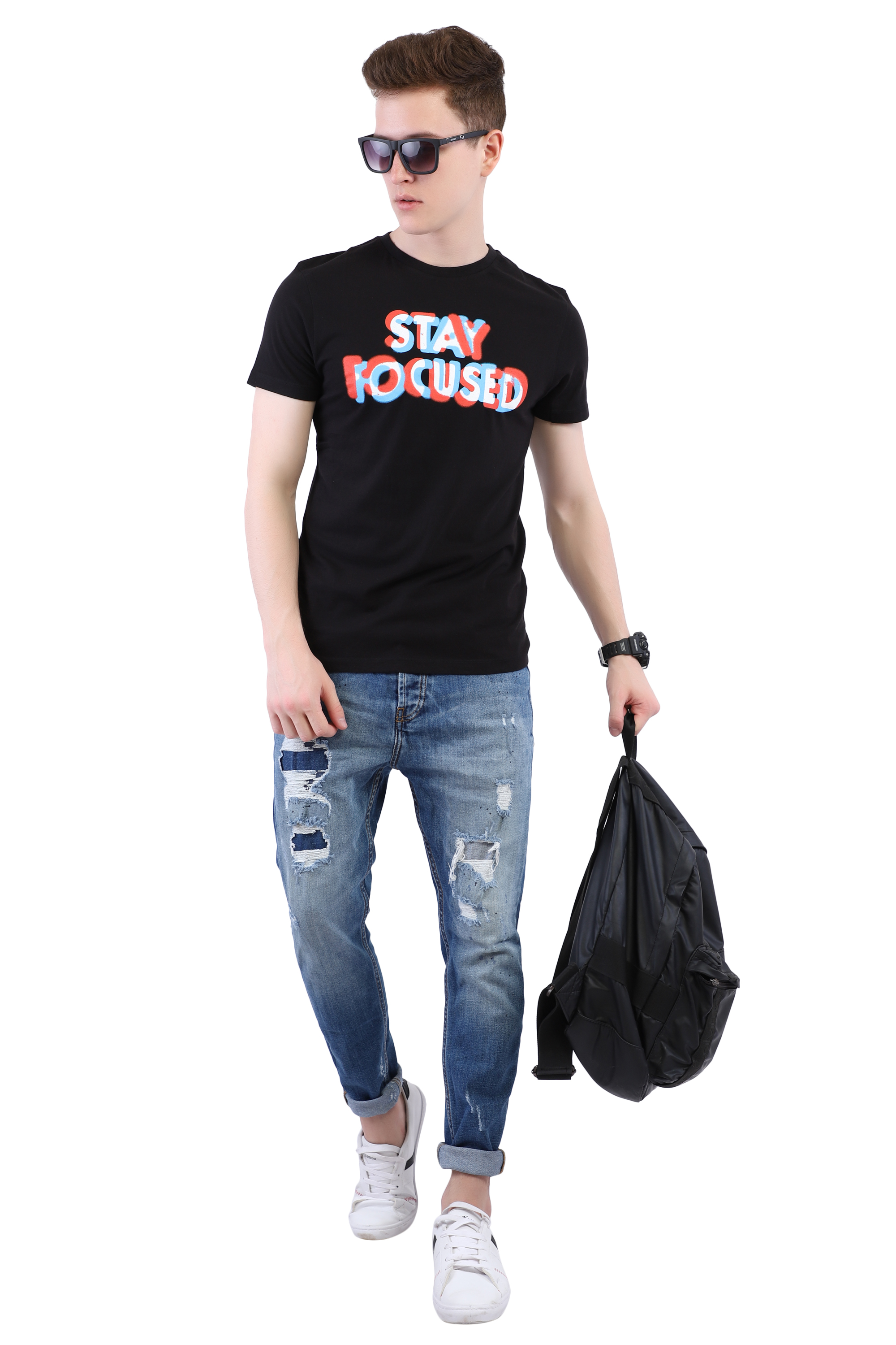 Black T-shirt (Stay Focused) Image