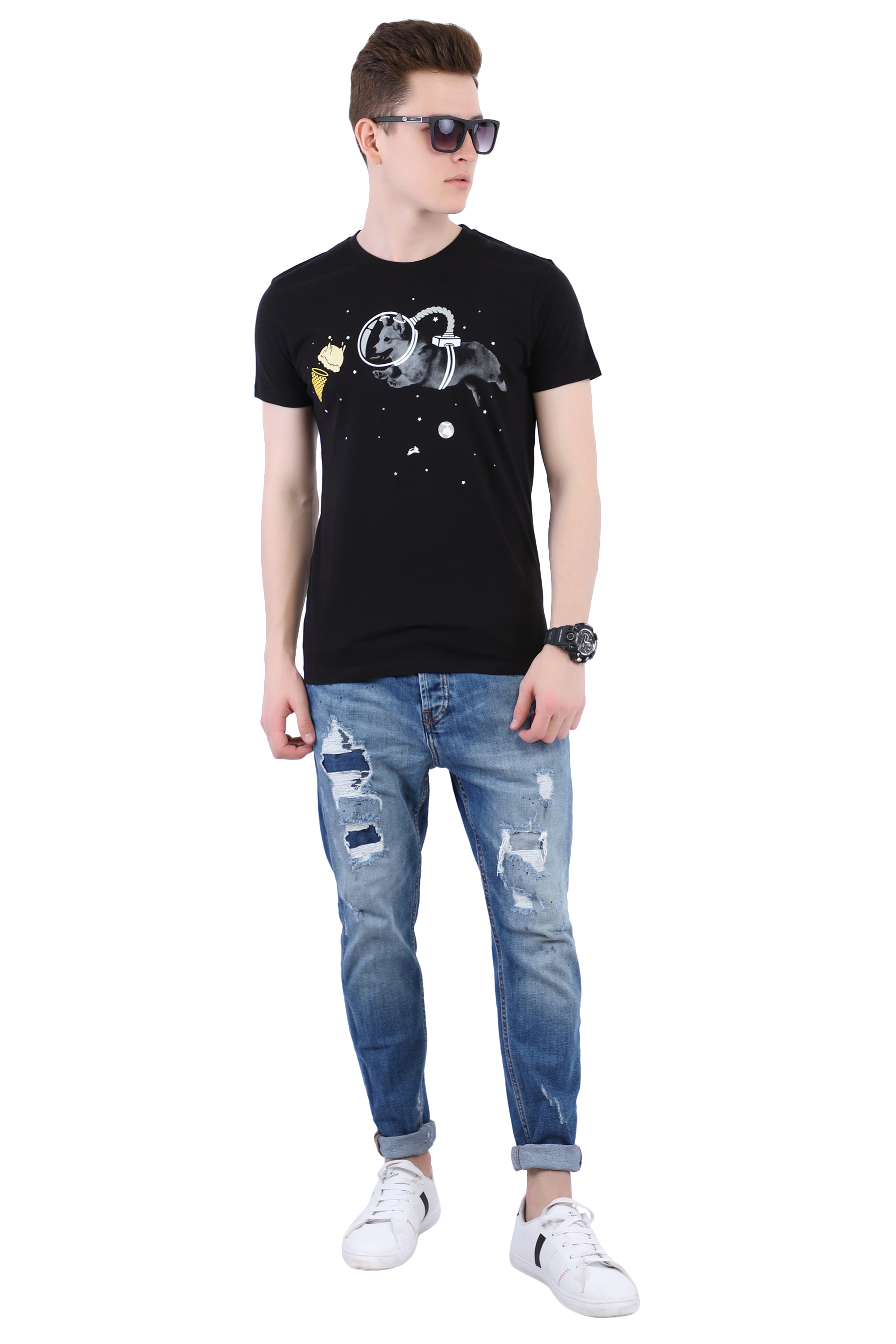 Black T-shirt (Dog) Image